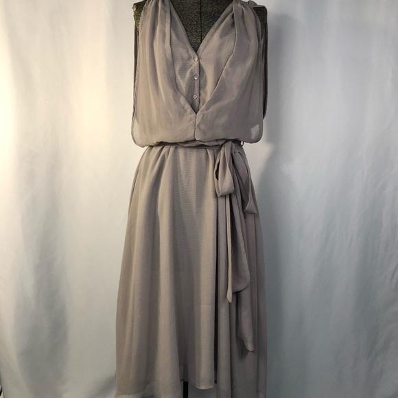 Miilla Clothing Dresses & Skirts - Miilla Grey Gauzy Belted Dress